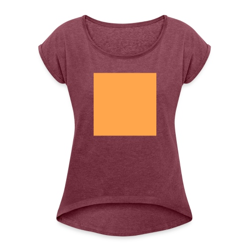 teste mich - Frauen T-Shirt mit gerollten Ärmeln