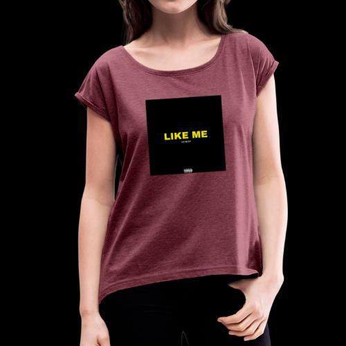 New season - Koszulka damska z lekko podwiniętymi rękawami