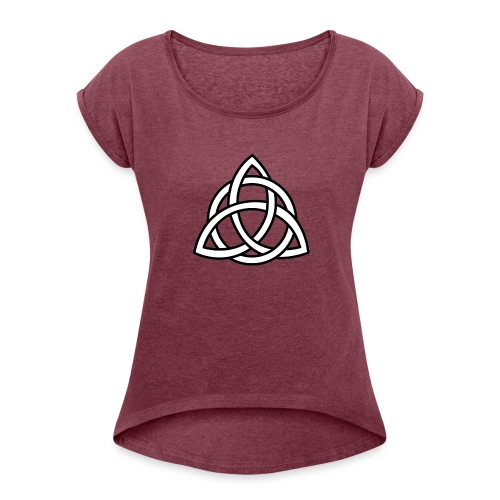 Celtic Knot - Women's T-Shirt with rolled up sleeves