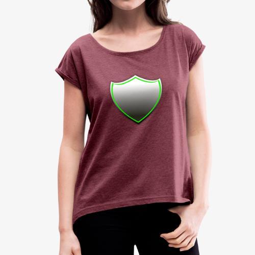 Shield - Frauen T-Shirt mit gerollten Ärmeln