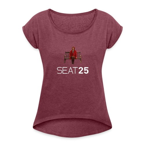 Faye on Logo - Women's T-Shirt with rolled up sleeves