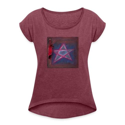 PENTAGRAM - Frauen T-Shirt mit gerollten Ärmeln