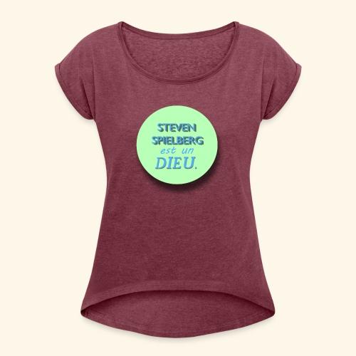 Steven Spielberg - Collection Flat Circle - T-shirt à manches retroussées Femme