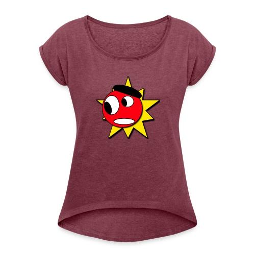 Mr Boom - Vrouwen T-shirt met opgerolde mouwen