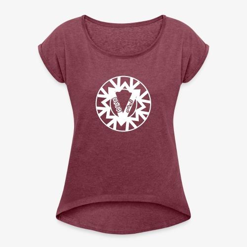 OVM GOOD - Vrouwen T-shirt met opgerolde mouwen