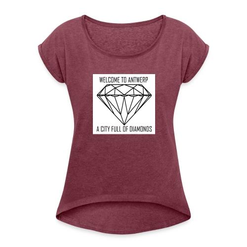 Antwerp lover - Vrouwen T-shirt met opgerolde mouwen