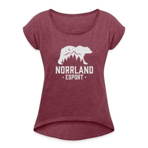 NorrlandEsport - T-shirt med upprullade ärmar dam