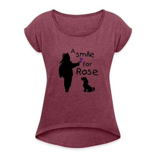 A Smile for Rose - Maglietta da donna con risvolti