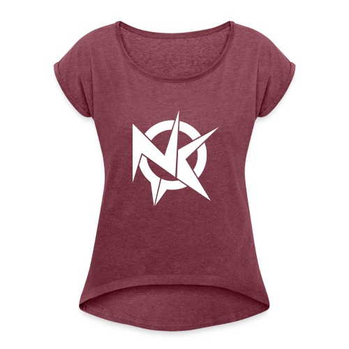 NK Clan - Camiseta con manga enrollada mujer