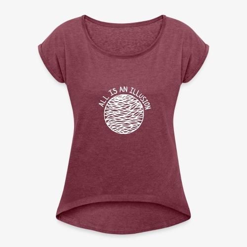 TOUT EST UNE ILLUSION - T-shirt à manches retroussées Femme