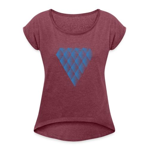 Diamanter i Diamanter - Dame T-shirt med rulleærmer