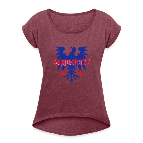 Supporter77 - T-shirt med upprullade ärmar dam