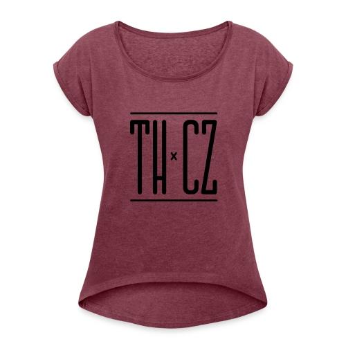 Logo THxCZ - T-shirt à manches retroussées Femme
