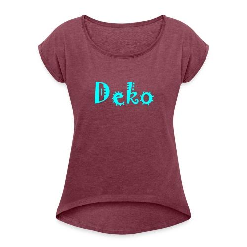 Deko - Frauen T-Shirt mit gerollten Ärmeln