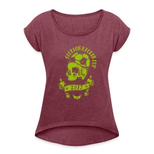 Logo Silpion Kicker Cup 2017 - Frauen T-Shirt mit gerollten Ärmeln