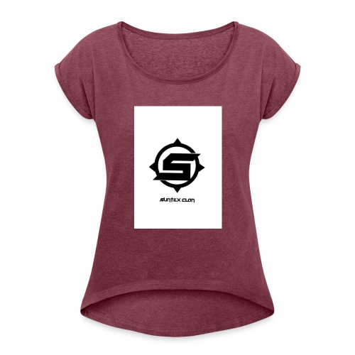 Syntex Clan - T-shirt med upprullade ärmar dam
