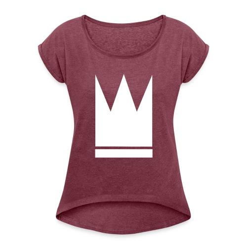 What you wished for - T-skjorte med rulleermer for kvinner