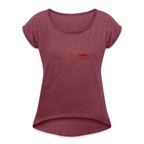 Raptor Shirt - Vrouwen T-shirt met opgerolde mouwen
