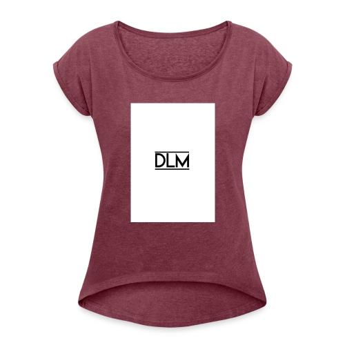 DLM - Frauen T-Shirt mit gerollten Ärmeln