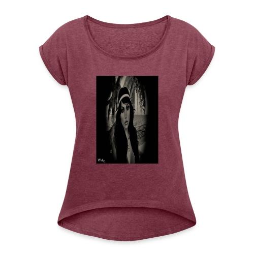 Mein foto aus Second Life Poster 1 - Frauen T-Shirt mit gerollten Ärmeln