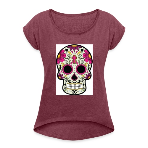 tête messico - T-shirt à manches retroussées Femme