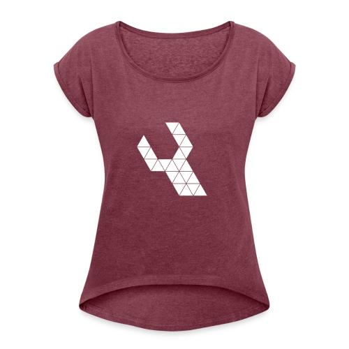 Repareer.com Basic Logo - Vrouwen T-shirt met opgerolde mouwen