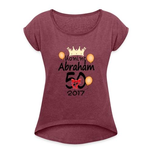 Alex 50 jaar - Vrouwen T-shirt met opgerolde mouwen