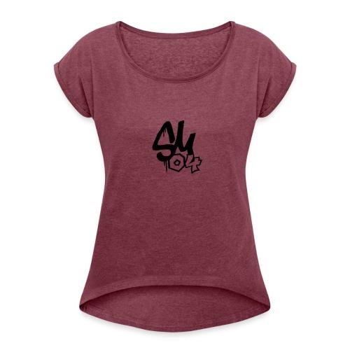 simmes logga - T-shirt med upprullade ärmar dam
