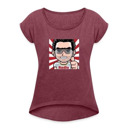 RadioLive - T-shirt à manches retroussées Femme