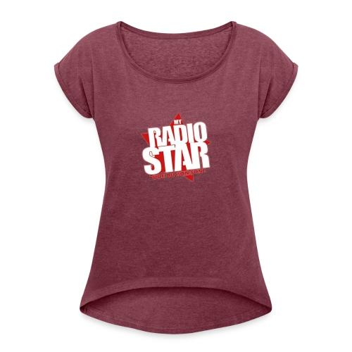 MRS STORE - T-shirt à manches retroussées Femme