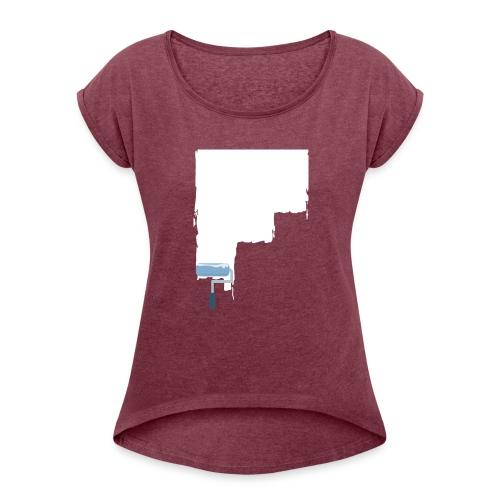 Urban flat design - Frauen T-Shirt mit gerollten Ärmeln