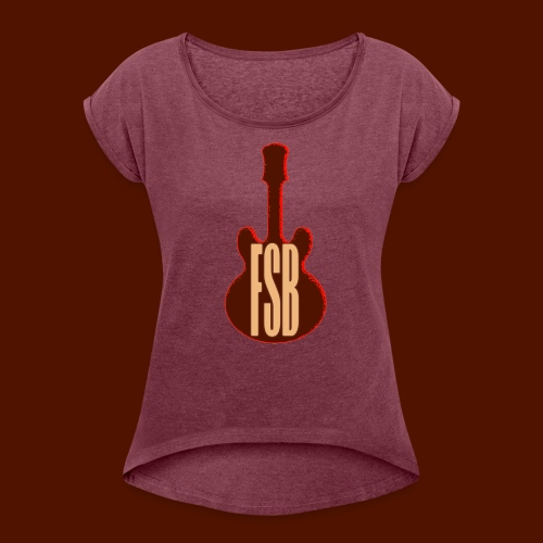 FSB Guitar Logo - Women's T-shirt with rolled up sleeves