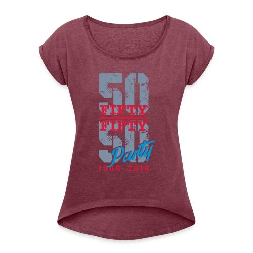 HOMME (grand logo) - T-shirt à manches retroussées Femme