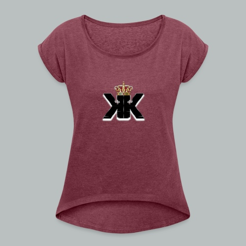 KaosKnight Logo - Frauen T-Shirt mit gerollten Ärmeln
