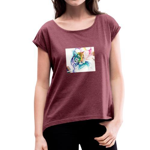 leon (york) - Camiseta con manga enrollada mujer