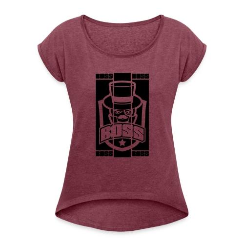 BOSS_BRAND - T-shirt à manches retroussées Femme