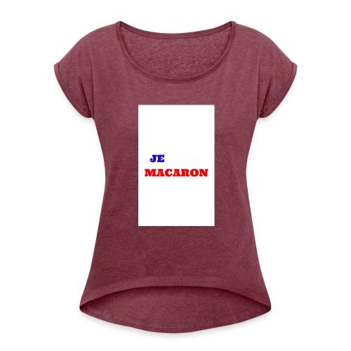 JE VOTE MACARON - T-shirt à manches retroussées Femme