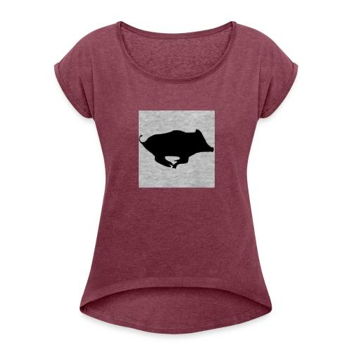 Sanglier - T-shirt à manches retroussées Femme