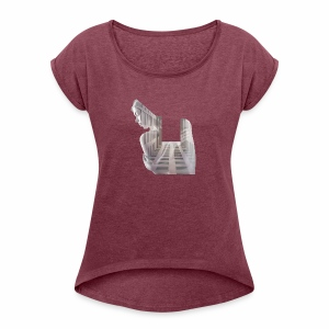 Lady House Exposure - Women's T-shirt with rolled up sleeves