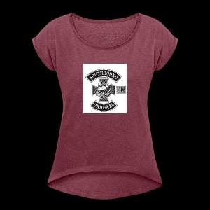 SOUTHBOUND - Naisten T-paita, jossa rullatut hihat