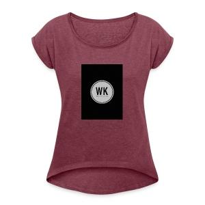 WienerKickerZ Logo - Frauen T-Shirt mit gerollten Ärmeln