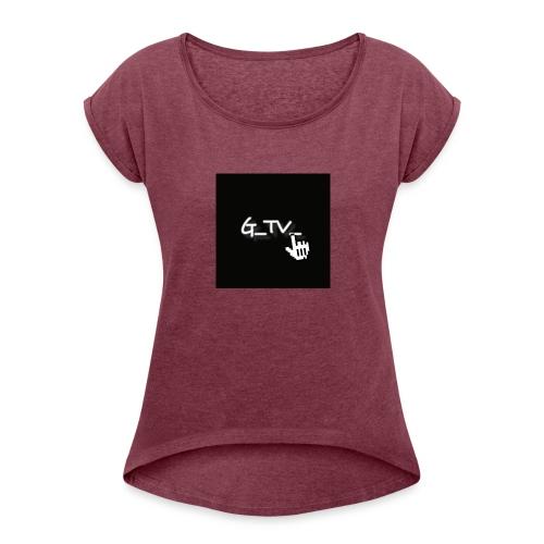 G_TV_ - Frauen T-Shirt mit gerollten Ärmeln