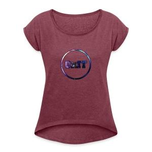 OxIT CLAN - Vrouwen T-shirt met opgerolde mouwen