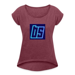 backgrounder_-17- - Women's T-shirt with rolled up sleeves