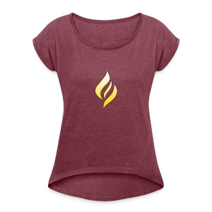 LUX Default Logo - Women's T-shirt with rolled up sleeves