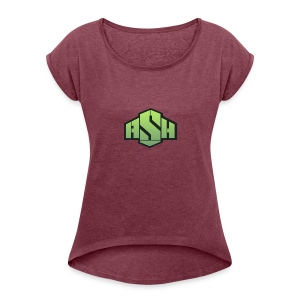 SxAshHowl,s Youtube merch - Women's T-shirt with rolled up sleeves