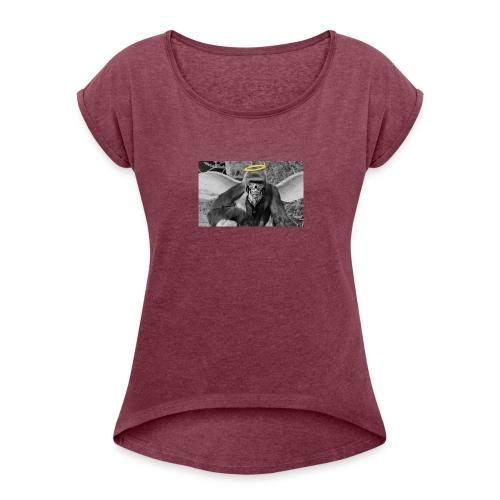 G Harambe - T-shirt med upprullade ärmar dam