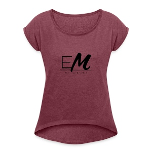 Small original logo - Women's T-shirt with rolled up sleeves