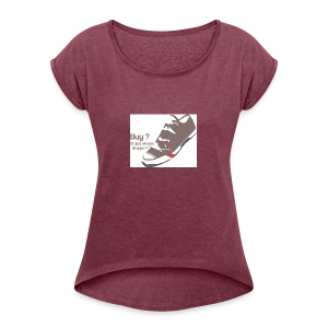 window_shopper - Women's T-shirt with rolled up sleeves