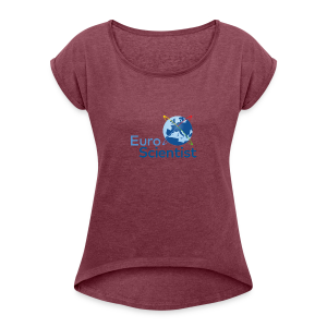 Euroscientist logo - Women's T-shirt with rolled up sleeves